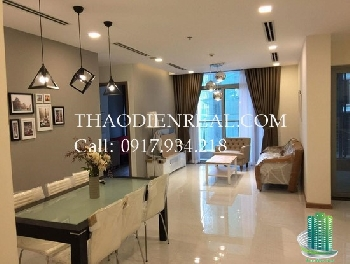 Best design Index furniture 3 bedroom river view Vinhomes Central park for rent