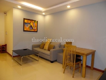 This serviced apartment is located in Truong Son street, near Supper Bowl. 1 bedroom, 1 living room, kitchen, washing machine.
