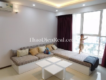 Gorgeous living space of 3 bedrooms apartment in Thao Dien Pearl for rent.