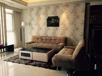Impressed furnitures 3 bedrooms apartment in Cantavil Hoan Cau for rent is now included management fee.