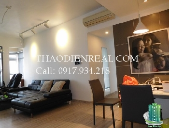 Magazine design style 2-bed Saigon Pearl apartment, fantastic viewaza for rent