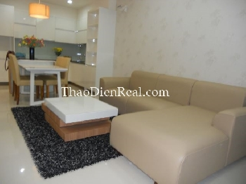 Modern furniture 2 bedrooms apartment in Saigon Airport Plaza.