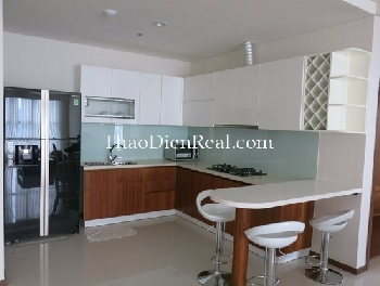 Nice interior 3 bedrooms apartment in Thao Dien Pearl for rent.