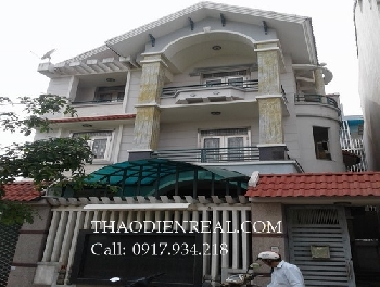 Nice villa 6 bedrooms apartment in An Phu ward for rent.