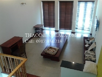 Nice wooden villa with 3 bedrooms in An Phu for rent.