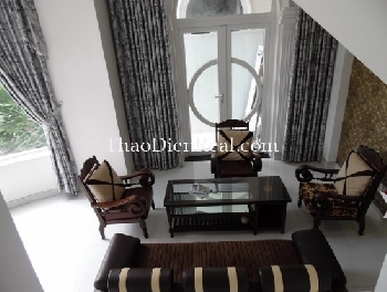 Royal style villa in An phu, fully furnished and 2 levels for rent.