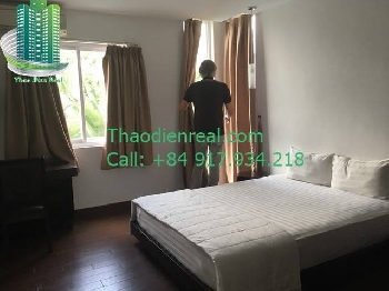 Serviced apartment in Thao Dien ward, with balcony and swimming pool- SE-08497
