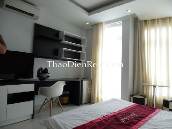 This serviced apartment is located in Truong Son street, near Supper Bowl.