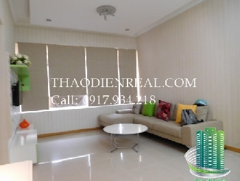 Simple design 2 bedroom city view 2nd floor Saigon Pearl for rent