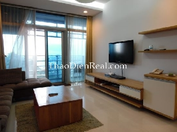 Wooden furnitures 2 bedrooms apartment in Sailing Tower for rent